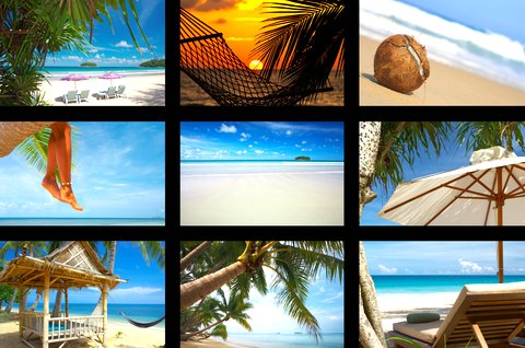 A collage of Cebu Beaches photos. The beaches of Cebu Islands offer fantastic refuge for holiday-makers and beach lovers.