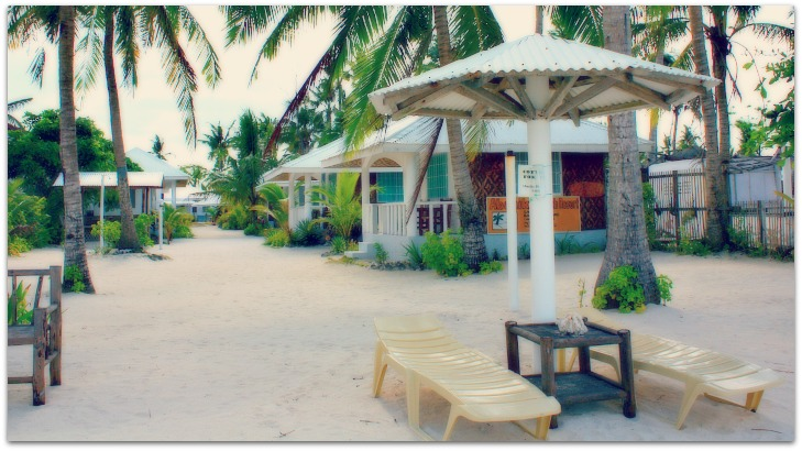 Abaniko Beach Resort and loungers