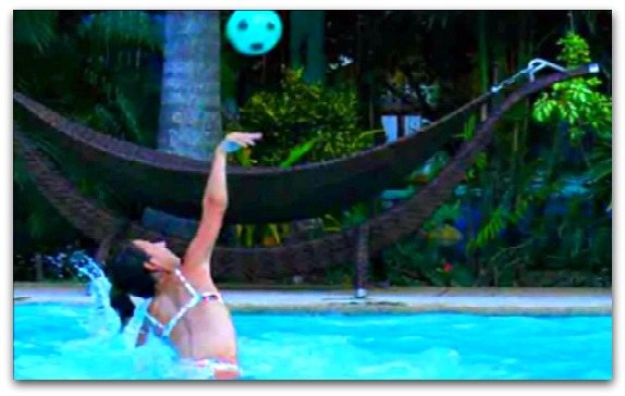 Playing pool volleyball is popular at Alta Cebu Resort, Mactan Island, Cebu.
