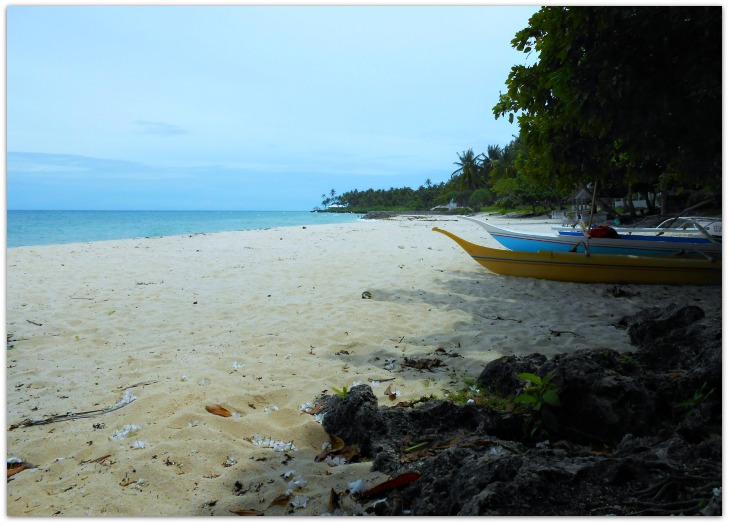 Bangka at Bakhaw Beach Resort is available for guests interested in paddling by the shores