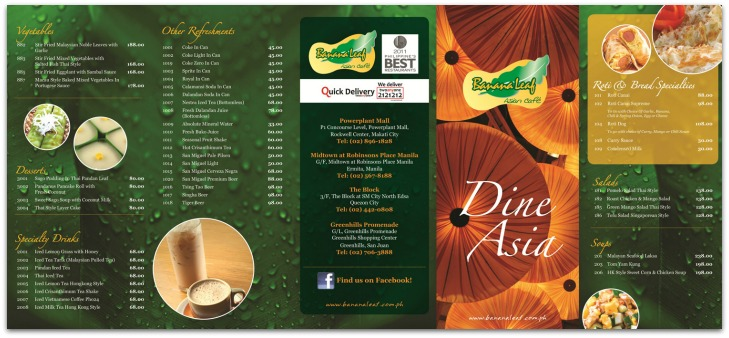 banana leaf cafe fusion food
