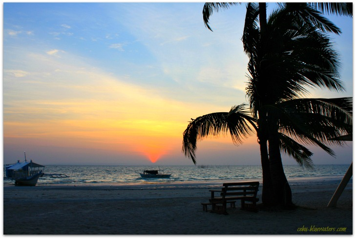 Spectacular sunrise sight on Bantayan Island