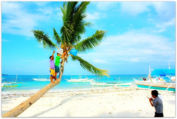 Bantayan Island Beach Children Playing