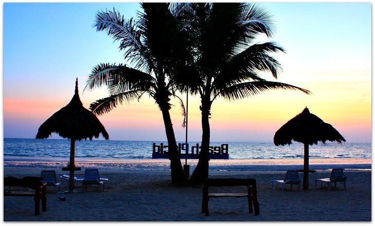 Sunrise at Beach Placid Resort on Bantayan Island