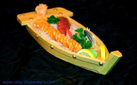 Japanese Boat Sushi at Cebu Japanese Restaurant