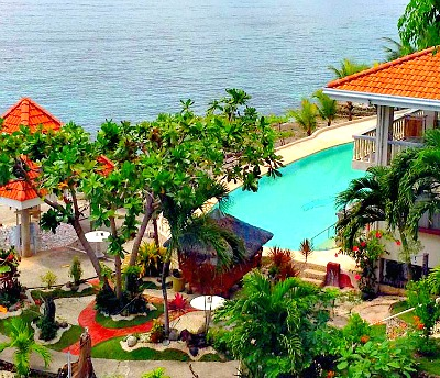 Bonga Villa Beach Resort view