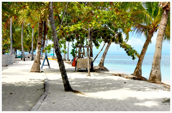 This is the famous Bounty Beach of Malapascua Island, Cebu, Philippines.