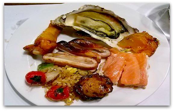 Sample of Cebu Restaurants food being served on the island.