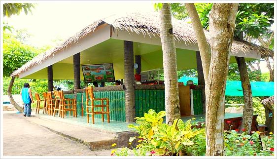 A bar, cafe, restaurant  of Lake Danao Park in Camotes Island, Cebu, Philippines.