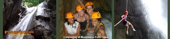 Montaneza Falls Canyoning in Cebu, Philippines