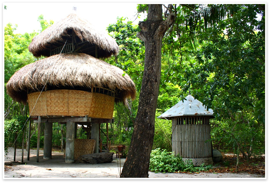 Two-storey-thatched-roofed-building-caohagan-island-cebu