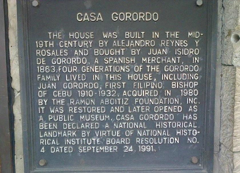 Casa Gorordo History