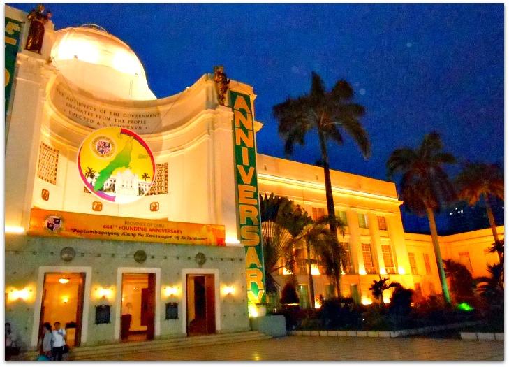 Cebu Provincial Capitol's sideview facade