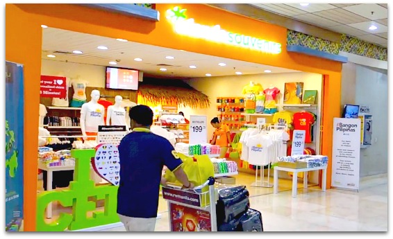 Shops inside Macta-Cebu International Airport, Mactan Island, Cebu, Philippines.