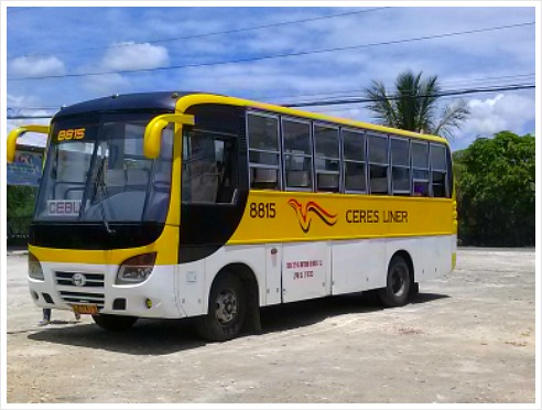 There are four bus lines that ply the northern parts of Cebu Province: Ceres Bus, Rough Riders, CBL Liner, ABC Liners.