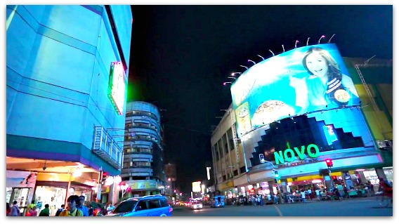 Cebu's Colon Street at night is the busiest street in the province.