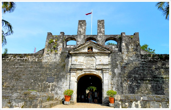 The entrance of the 16th century Fort San Pedro in Cebu City, Philippines.