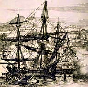 Cebu Beaches. Galleon Ship was the main sea transport employed by the Spanish crown when they circumnavigate and conquer distant lands.