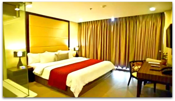 A Standard Room at Goldberry Suites and Hotel on Mactan Island, Cebu, Philippines.