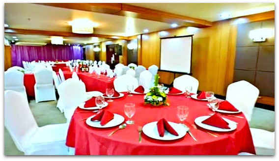 Dining Hall of Goldberry Suites and Hotel for all sorts of events and occassions.