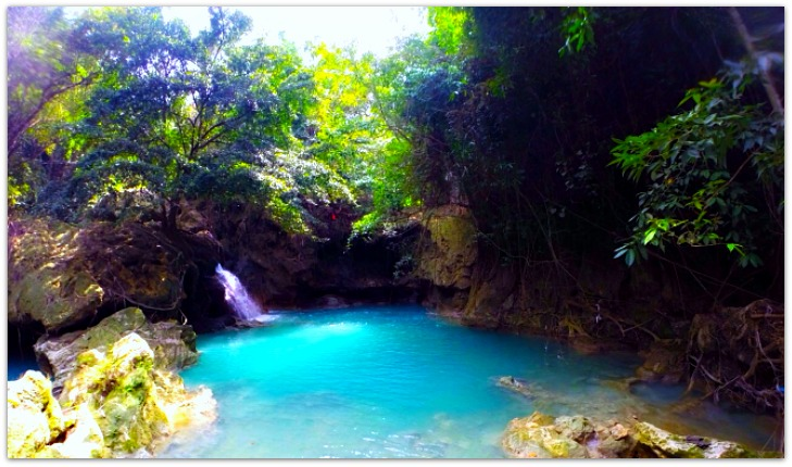 First tier of Kawasan Falls in Badian, Cebu