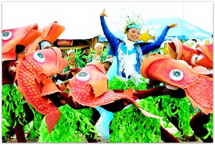 Dancing with fish during Kinsan Festival in Aloguinsan