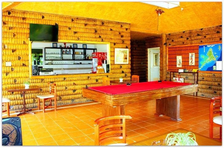 Maia's Restaurant Interior & Billiard Table, Bantayan Island