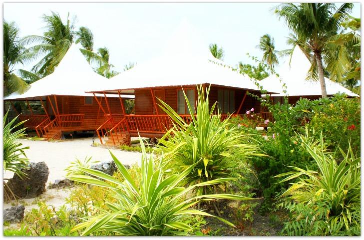 Cottages at Maias Beach Resort in Basawon, Bantayan Island, Cebu