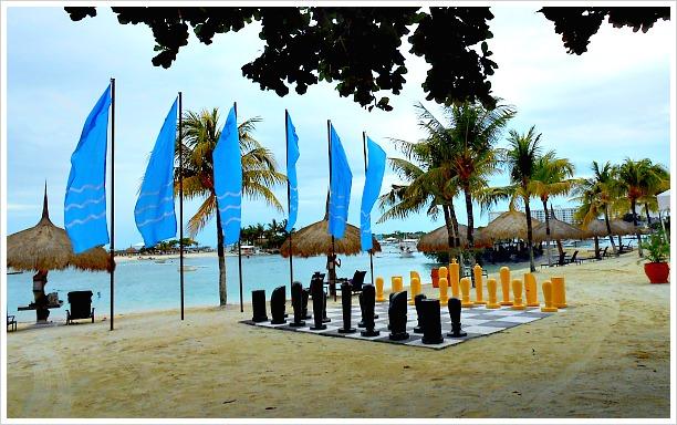 A view of Bluewater Maribago Beach Resort, Mactan Island