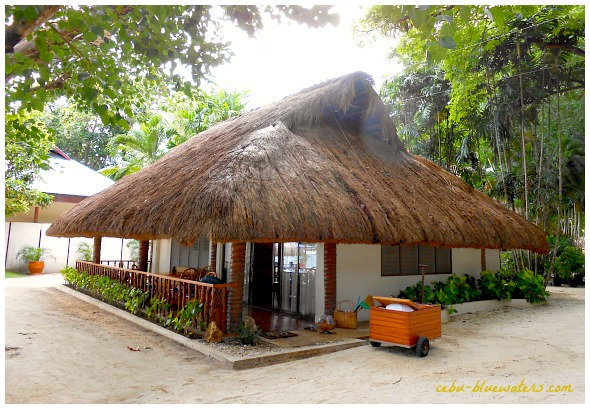 One of the cottages of Maribago Bluewaters Beach & Resort Hotels.