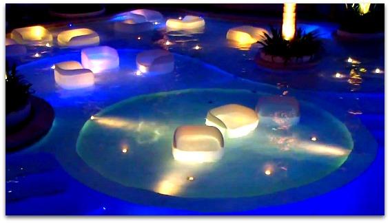 Movenpick Hotel & Spa's Sapphire Pool, Mactan Island, Cebu, Philippines.