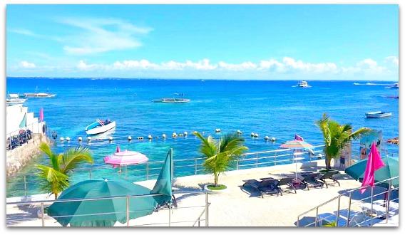 Palmbeach Resort & Spa's seaview on Mactan Island, Cebu, Philippines