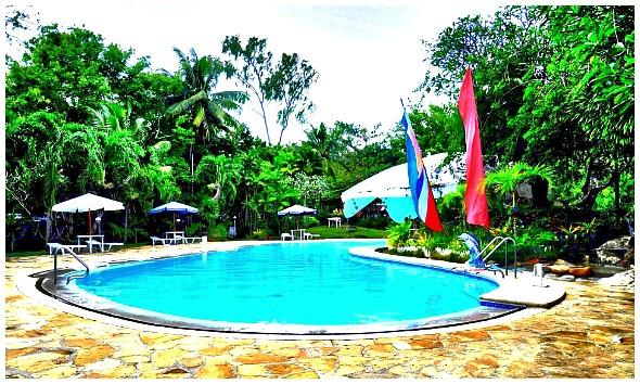 Portofino Beach Resort Swimming Pool. It is located in Mactan Island, Cebu, Philippines.