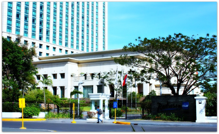 Entrance Gate Radisson Blu Hotel Cebu City