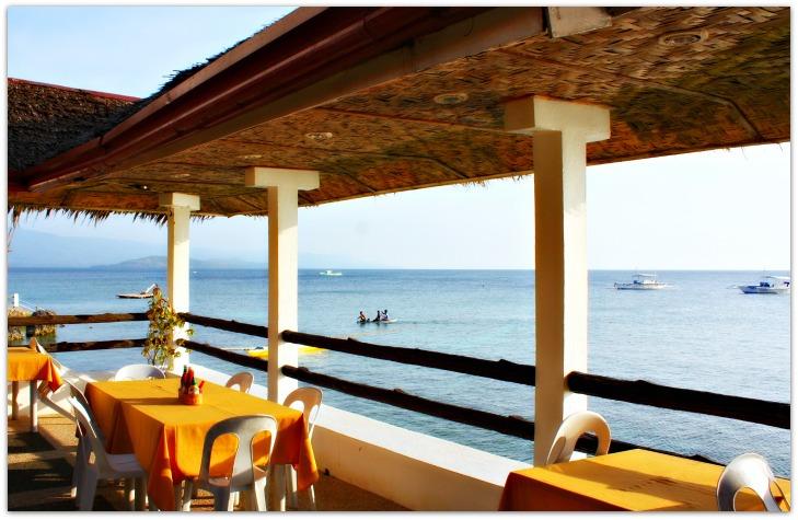 Restaurant seaview Panagsama Beach, Moalboal Town, Cebu