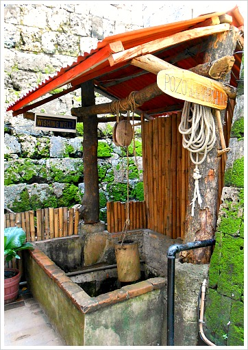 This is a deep well used by soldiers and has turned into a wishing well at Fort San Pedro, Cebu City, Philippines.