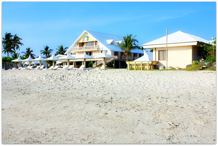 Sta Fe Beach Club view from the beach, Bantayan island, Cebu