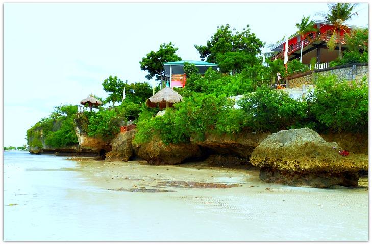 Low tide view of Santiago Bay Garden Resort in Camotes Islands, Cebu, Philippines