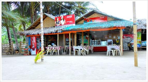 A restaurant by Santiago White Beach on Camotes Islands, Cebu