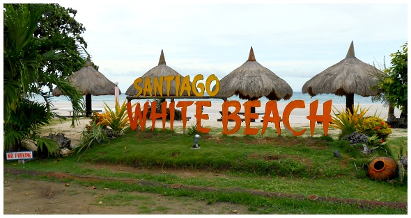 Santiago Bay White Beach. It is located in Camotes Islands, Cebu, Philippines. You can find various resorts with choices of prices, facilities, etc.