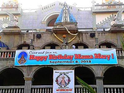 Facade of Simala Shrine Church in Lindogon, Sibonga, Cebu