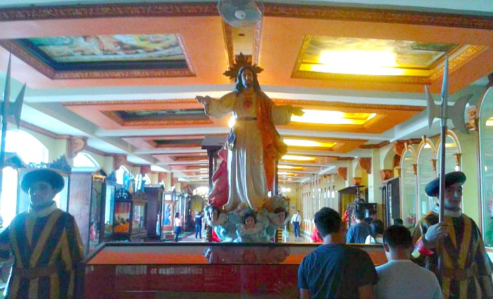 Inside Simala Shrine Church, Lindogon, Sibonga, Cebu, Philippines