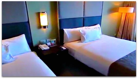 A bedroom at Sotogrande Hotel on Mactan Island, Cebu Province, Philippines
