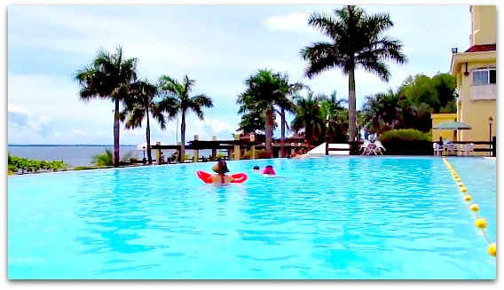 The infinity pool of Sotogrande Hotel located in Lapu-Lapu City, Mactan Island, Cebu, Philippines