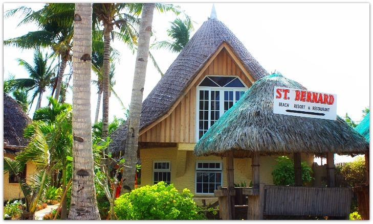 St Bernard Beach Resort Cottage on Bantayan Island, Cebu, Philippines