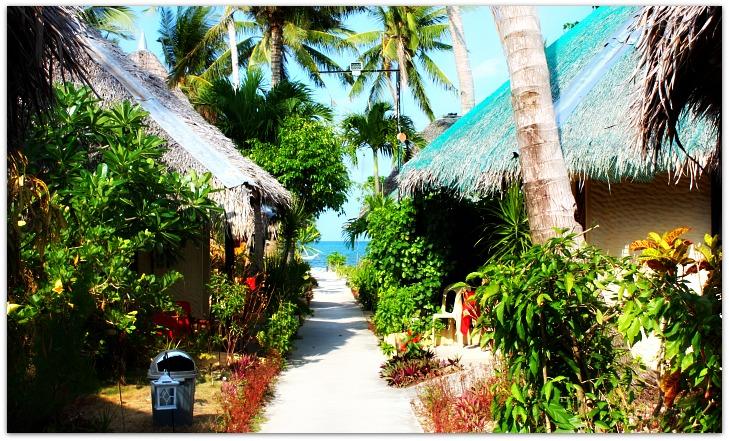 Nice pathway at St Bernard Beach Resort on Bantayan island, Cebu, Philippines