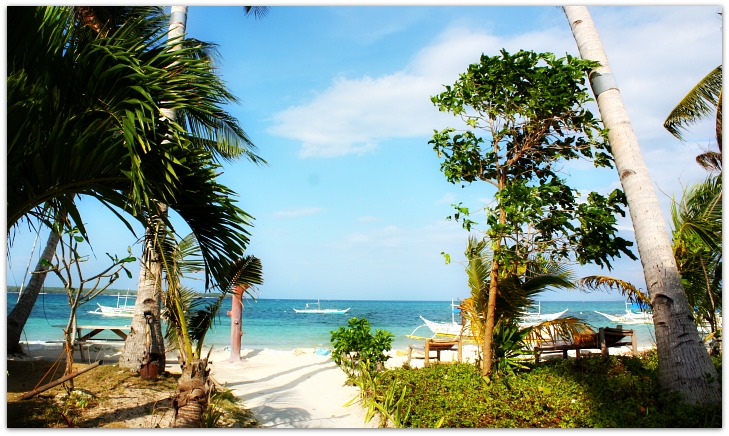 St Bernard Beach Resort's beach view in Santa Fe, Bantayan Island, Cebu, Philippines