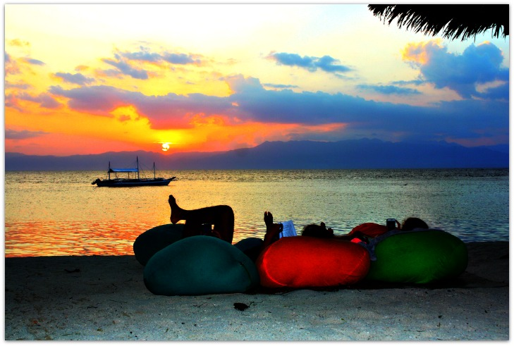 Sunset Watching in Panagsama Beach Moalboal