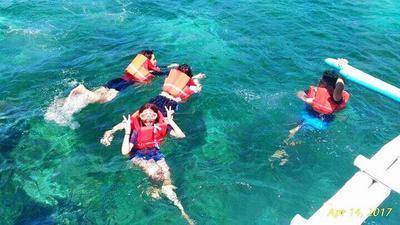 Enjoying the cool water!
