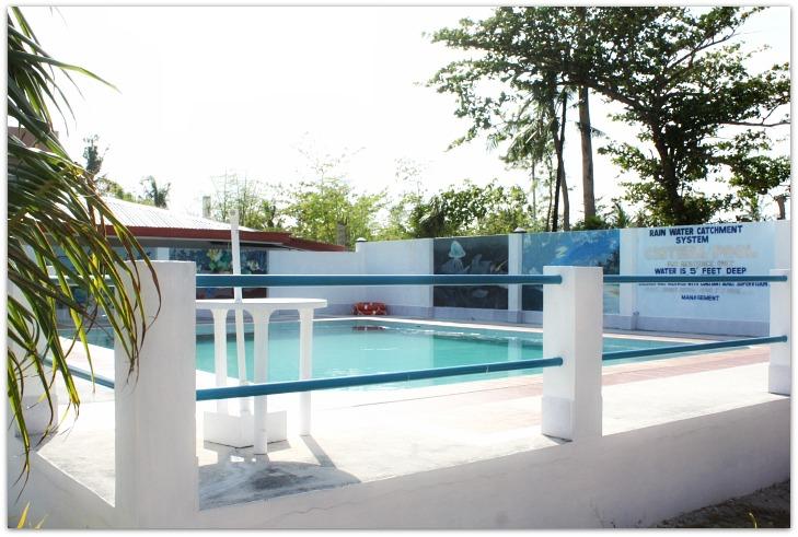 Swimming pool at Tickety Boo Beach Resort on Bantayan Island, Cebu, Philippines